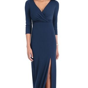 EUC Nordstrom's After Six navy gown